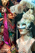 Mardi Gras Prints - Mardi Gras Window New Orleans Print by Kathleen K Parker