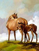 Broodmare Art - Mare and Foal by Patricia Howitt