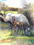 Stan Esson Originals - Mare and Foal by Stan Esson