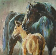 Veronica Coulston - Mare and Foal