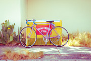 Marfa Texas Framed Prints - Marfa Cola Bike Framed Print by Sonja Quintero