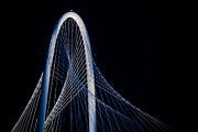 Dallas Photo Posters - Margaret Hunt Hill Bridge Poster by Darryl Dalton