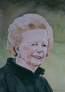 Margaret Paintings - Margaret Thatcher by Betty-Anne McDonald