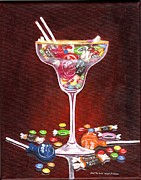 Margarita Paintings - Margarita Candy by Patricia Ann Rizzo