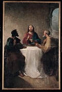 Bible Character Prints - Marghinotti Giovanni, Supper At Emmaus Print by Everett
