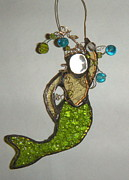 Mermaid Glass Art - Margie by Nora Solomon