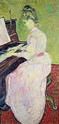 Pianist Framed Prints - Marguerite Gachet at the Piano Framed Print by Vincent Van Gogh