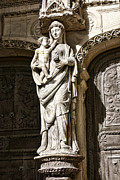 Virgin Mary Metal Prints - Maria Gratia Plena Metal Print by Olivier Le Queinec