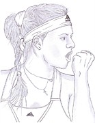 Steven White Drawings - Maria Kirilenko by Steven White