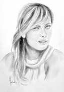 Maria Sharapova Drawings Prints - Maria Sharapova Print by Dave Lawson