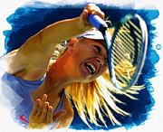 Maria Sharapova - Us Open   Print by Don Kuing