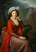Eighteenth Century Framed Prints - Maria Theresia Bucquoi Framed Print by Elisabeth Louise Vigee Lebrun