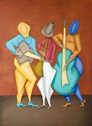 Red Band Painting Originals - Mariachi by David Walsh