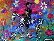 Skull Paintings - Mariachi Rider by Pristine Cartera Turkus