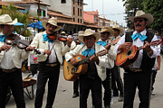 Linda Queally Metal Prints - Mariachis at the Fiesta de San Jose Metal Print by Linda Queally