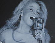 Mariah Carey Prints - Mariah Carey Print by David Dunne
