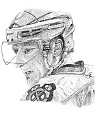 Hockey Mixed Media Metal Prints - Marian Hossa  Metal Print by Joe Rozek