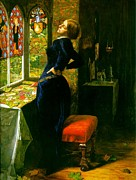 Mariana Posters - Mariana in the Moated Grange 1851 Poster by John Everett Millais