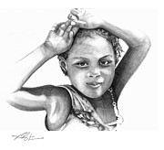 Caribbean Drawings Prints - Mariane Print by Bob Salo