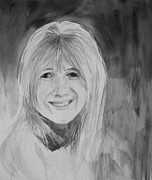 Innocent People Painting Prints - Marianne Faithfull Print by Martin Howard