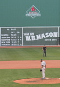 Red Sox Metal Prints - Mariano on the Mound Metal Print by Stephen Melcher