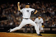 Ny Yankees Posters - Mariano Rivera in action Poster by Sanely Great
