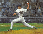 Mariano Rivera Prints - Mariano Rivera Print by Joe Maracic