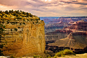 Cavern Digital Art Acrylic Prints - Maricopa Point Grand Canyon Acrylic Print by Nadine and Bob Johnston