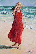 Mariela On Bonita Beach Print by Herschel Pollard