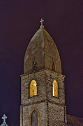Easter Photographs Posters - Marienkirche at Night Poster by Gary Holmes