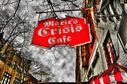 Crisis Posters - Maries Crisis Cafe Poster by Randy Aveille