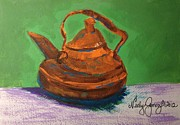 Jo Anne Prints - Maries Teapot Print by Jo Anne Neely Gomez