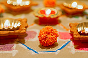 Festivals Of India Photos - Marigold New Year by Kantilal Patel