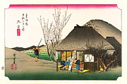 1833 Photos - Mariko Station Tokaido Road 1833 by Padre Art