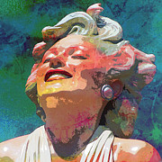 Featured Mixed Media Prints - Marilyn 14 Print by Tammera Malicki-Wong