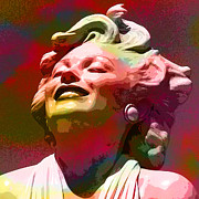 Featured Mixed Media Prints - Marilyn 15 Print by Tammera Malicki-Wong