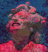 Featured Mixed Media Prints - Marilyn 16 Print by Tammera Malicki-Wong
