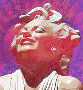 Featured Mixed Media Prints - Marilyn 18 Print by Tammera Malicki-Wong