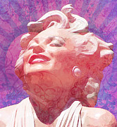 Featured Mixed Media Prints - Marilyn 19 Print by Tammera Malicki-Wong