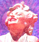 Featured Mixed Media Prints - Marilyn 20 Print by Tammera Malicki-Wong