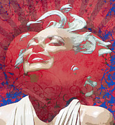 Featured Mixed Media Prints - Marilyn 21 Print by Tammera Malicki-Wong