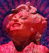 Featured Mixed Media Prints - Marilyn 22 Print by Tammera Malicki-Wong
