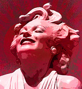 Featured Mixed Media Prints - Marilyn 25 Print by Tammera Malicki-Wong