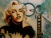 Icons Prints Painting Prints - Marilyn 3 Print by Matt Laseters BZRROindustries