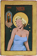 Norma Jean Painting Posters - Marilyn A Hollywood Icon Poster by Shawn Shea