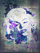 Film Star Prints - Marilyn Print by Delphimages Photo Creations