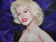 Sex Drawings Posters - Marilyn Poster by Faith Jacobson
