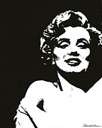 Norma Jean Drawings - Marilyn II by Jerrett Dornbusch