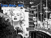 Norma Jean Posters - Marilyn in Cannes Poster by Jennie Breeze