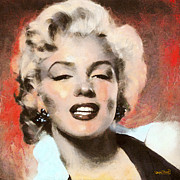 Marilyn In Retro Color Print by Wayne Pascall